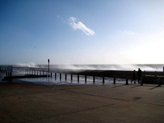 A windy day - West Bay