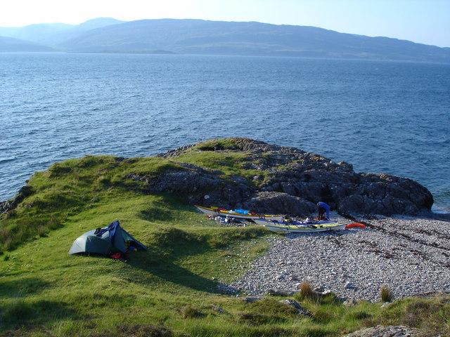 Camping by Loch Linnhe