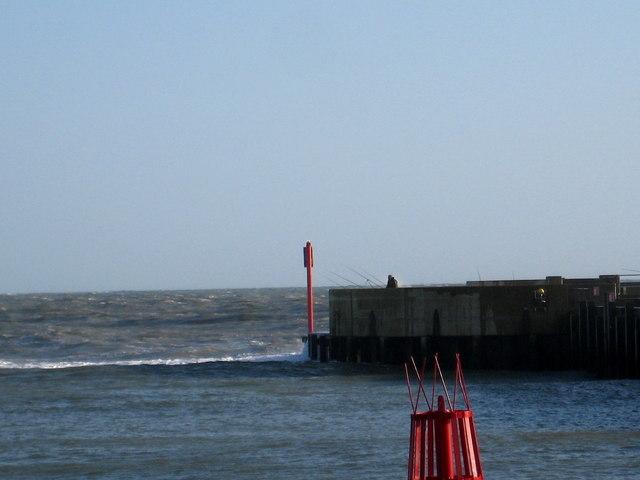Lone fisherman - West Bay