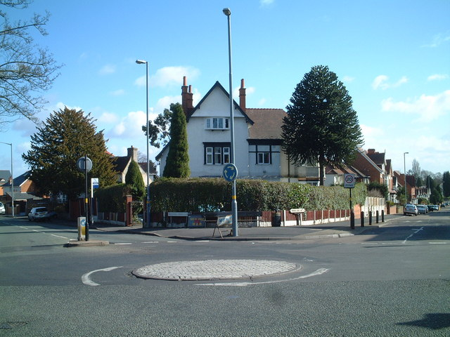 Junction of Woodlands Road and Showell Green Lane with Yardley Wood Road