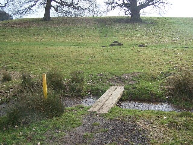 Footbridge in Leeds Castle Grounds