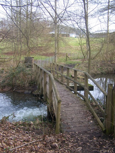 Footbridge in Leeds Castle Grounds