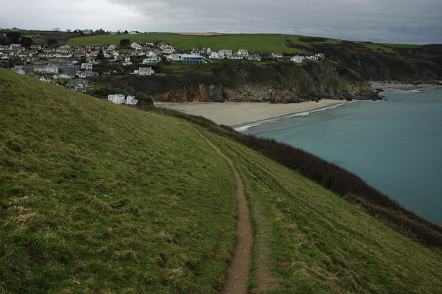 Coast path approaching Gorran Haven