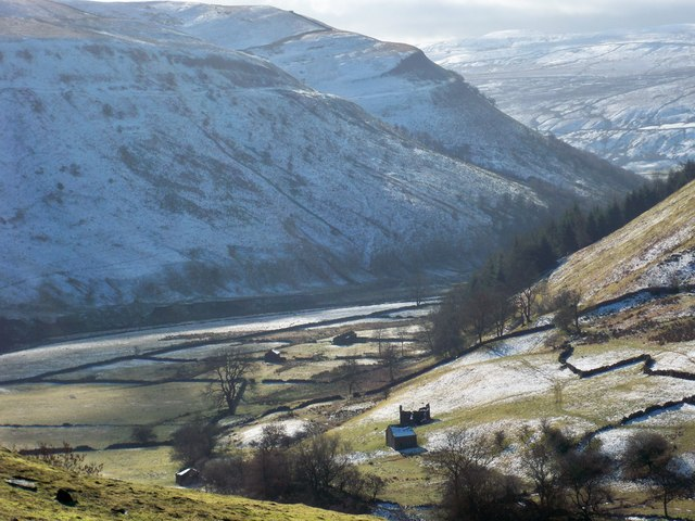 Swaledale from the top of West Wood