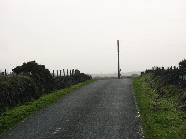 View southwards along the road