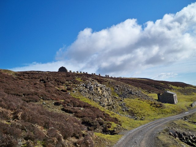 Stone Pillars on Reeth High Moor