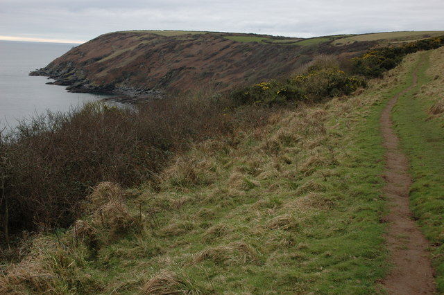 Coast path to Dodman Point