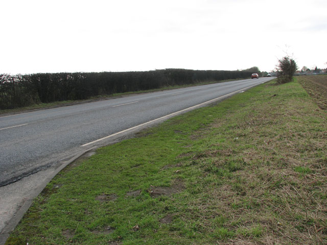 View south along the A140