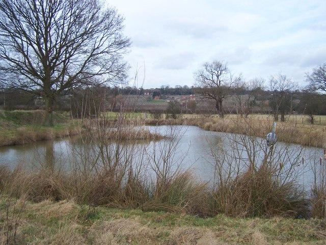 Fishing Lake in Gladwish Farm land