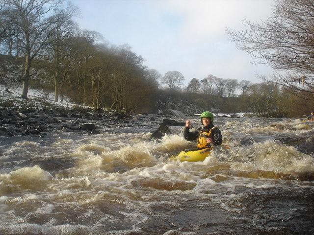 River Tees easy rapids