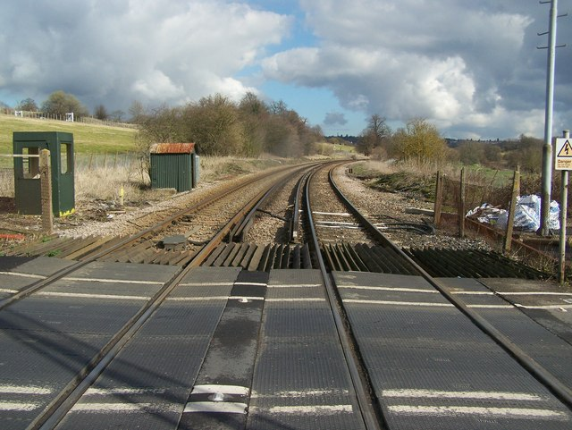 Railway to Maidstone, from Teston Level Crossing
