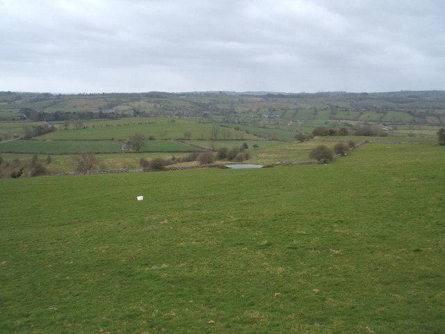Pasture land above Ballidon