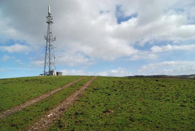 The mast at Moel y Sant