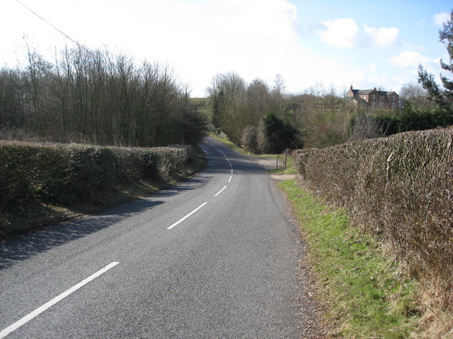 Approaching the B5035 from Carsington Village