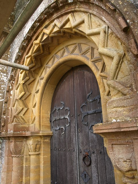 Doorway, St Nicholas' church, Corfe