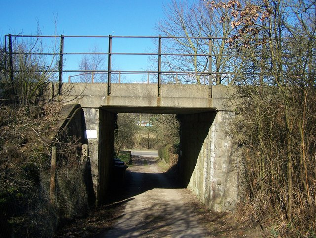 Railway bridge over cottage access road