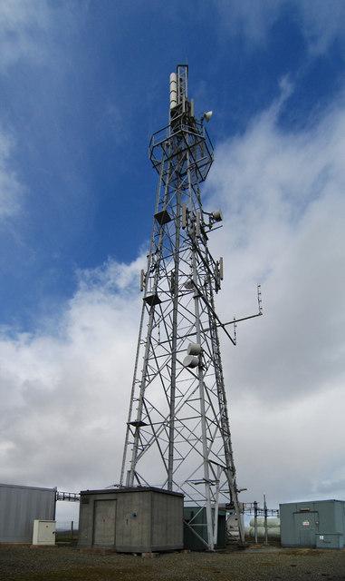 Buildings at mast base
