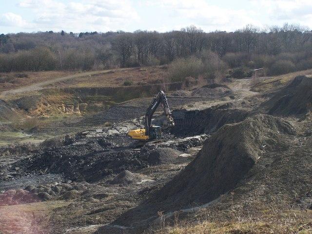 Lone Digger in Quarry