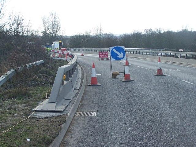 Roadworks on A227 Borough Green Roadbridge