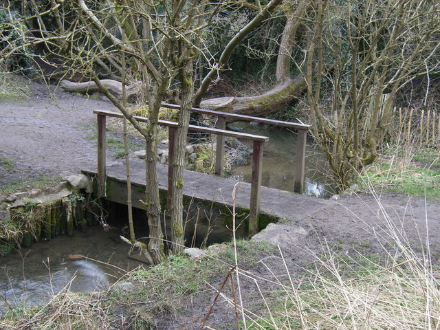 Footbridge across Evington Brook