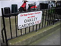 TQ2777 : Street sign 'Oakley Gardens' by PAUL FARMER