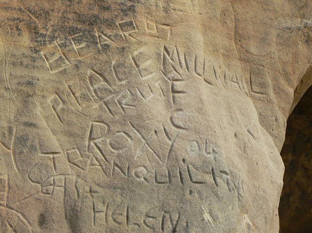 Graffiti in Church (Rock) Cemetery