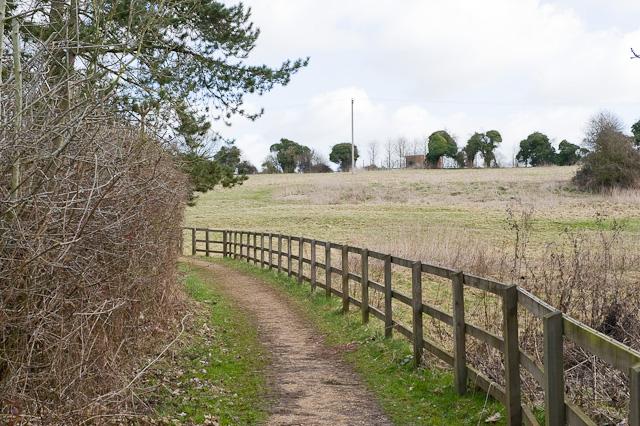 Footpath and sewage works, Cheriton