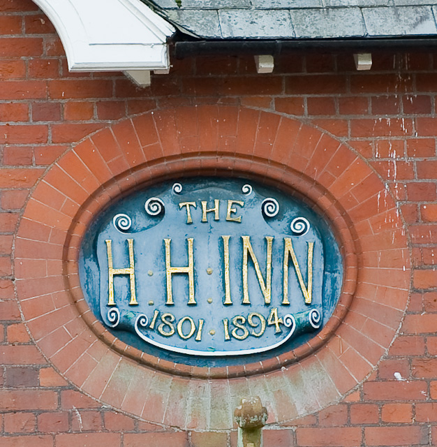 Plaque on the H H Inn, Cheriton