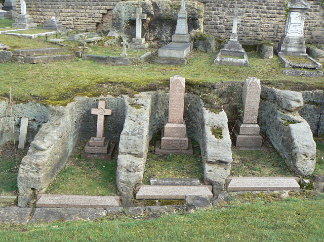 Rock hewn graves in Church (Rock) Cemetery