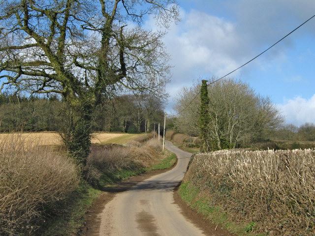 Lane passing Westleigh Farm