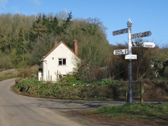 A corner cottage near Broomfield