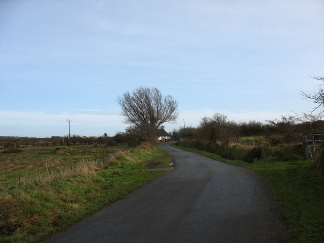 The stretch of road between Pont Pensarn bridge and Nant Cottage.