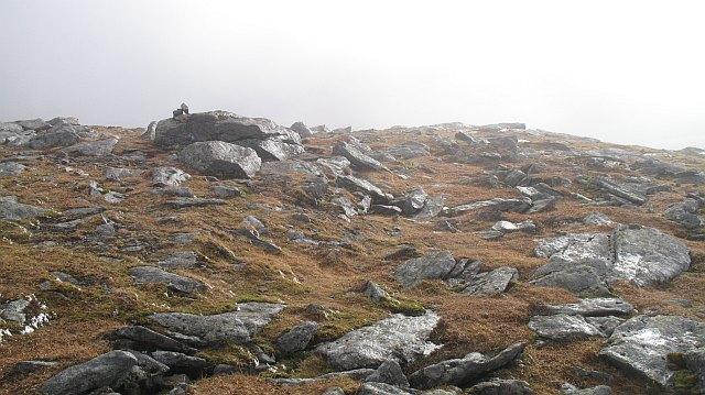 Rocks near the summit of the Mayar