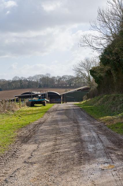 Access road to Westfield Farm, Cheriton