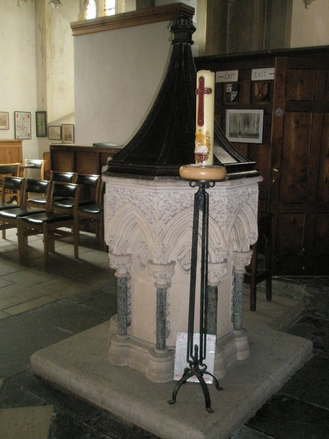 The font at St John the Evangelist, West Meon