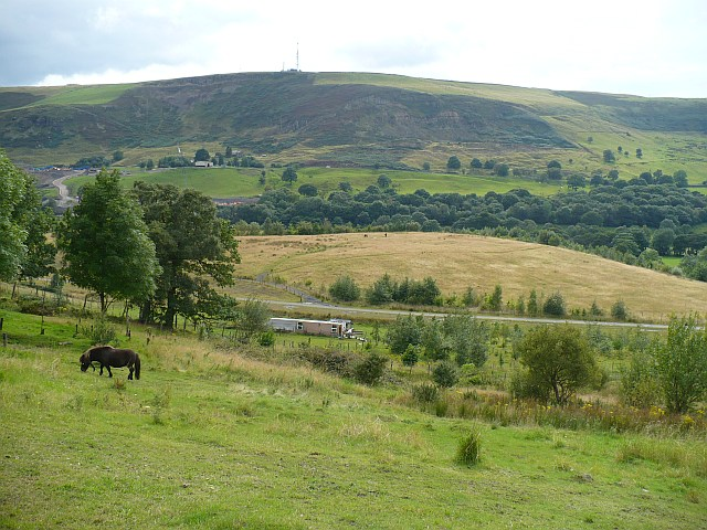 Looking across the Rhymney Valley