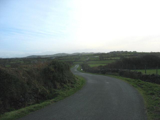 Road south of Trysglwyn Wind Farm
