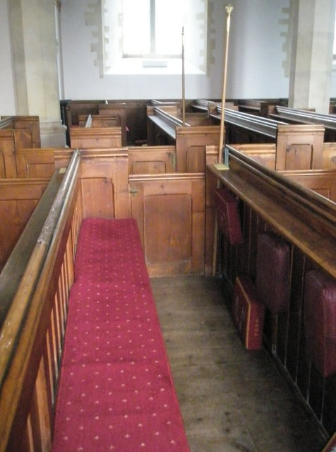 Boxed pews within St John the Evangelist, West Meon