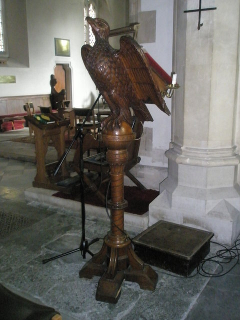 The lectern at St John the Evangelist, West Meon