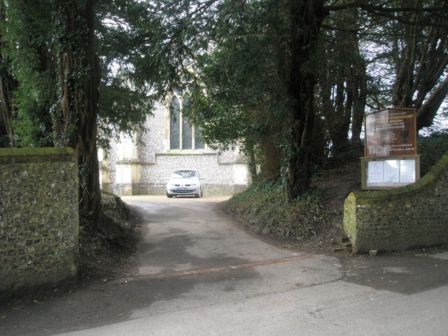 The entrance to St John the Evangelist, West Meon