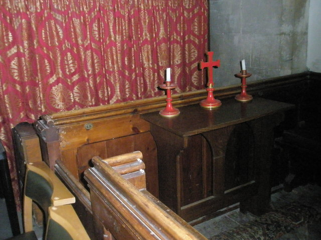 Devotional area within St John the Evangelist, West Meon