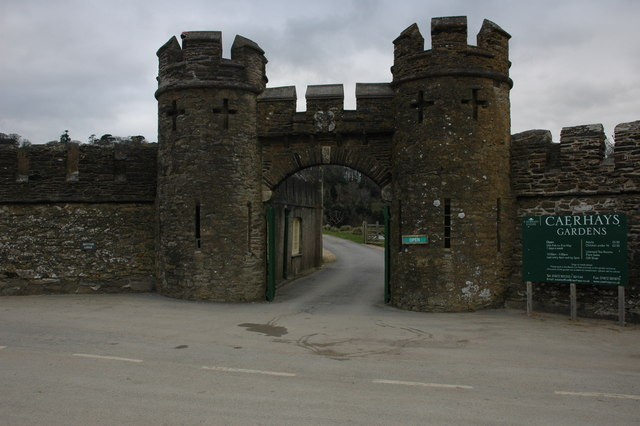 Entrance to Caerhays Castle