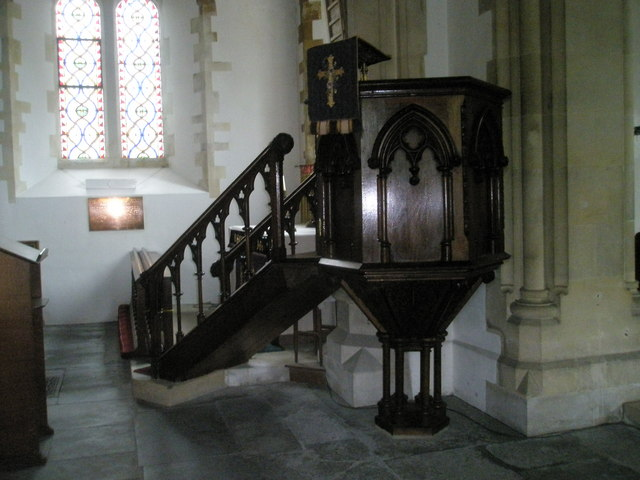 The pulpit at St John the Evangelist, West Meon