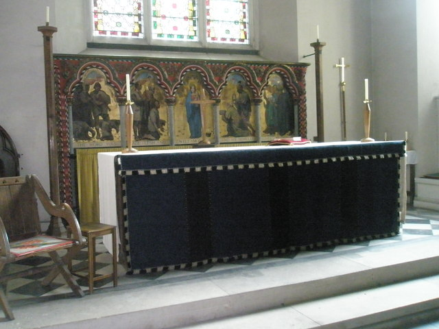 The altar at St John the Evangelist, West Meon