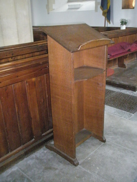 Modern lectern at St John the Evangelist, West Meon