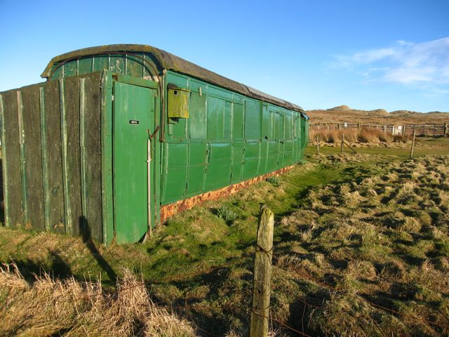 Forvie: old railway carriage