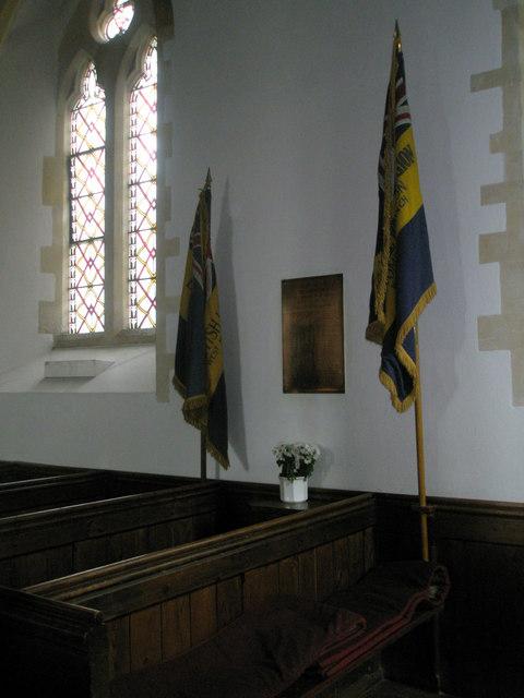 War memorial within St John the Evangelist, West Meon