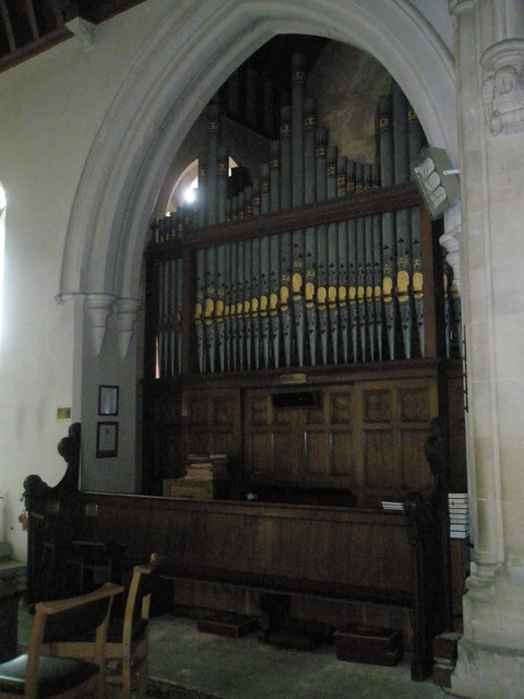 The organ at St John the Evangelist, West Meon