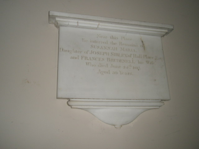 St John the Evangelist, West Meon: memorial (1)
