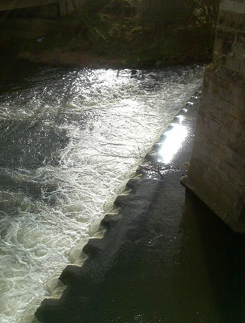 The Weir under Dove Bridge
